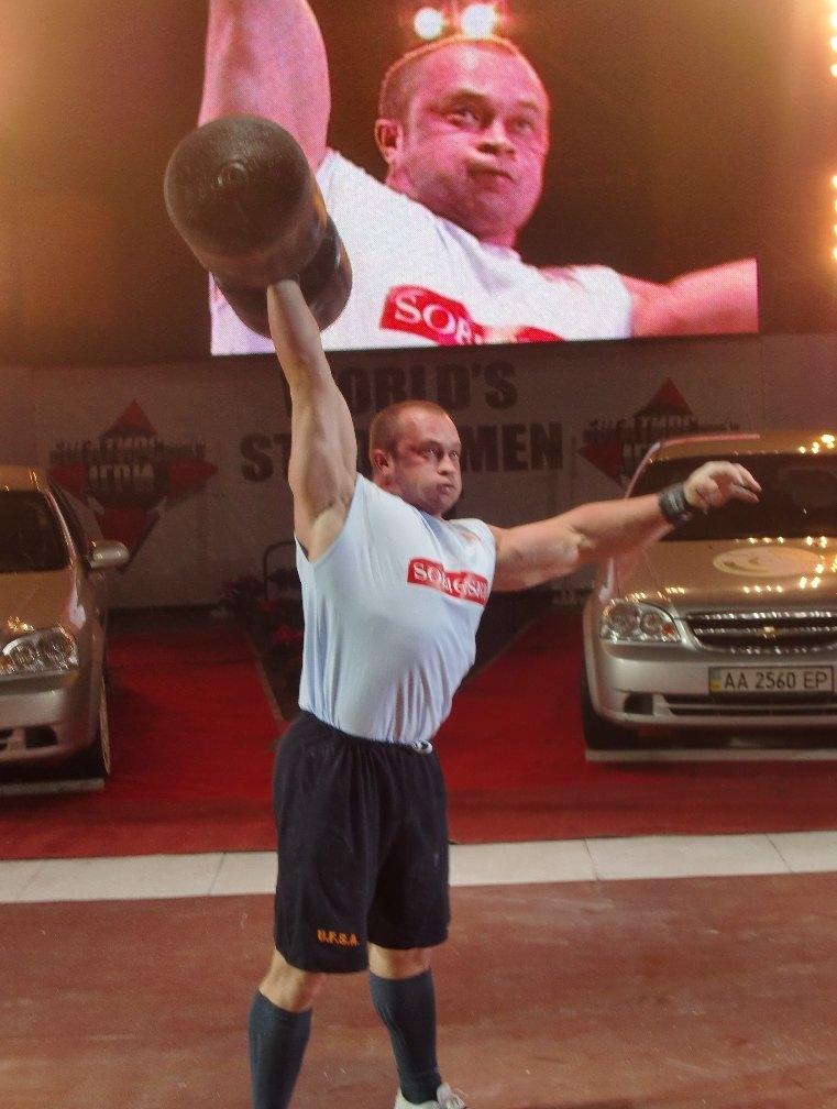 Vitaliy Gerasimov Defends His 105-kg Strongman Title